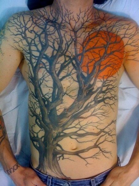Awesome tree tattoos images part 2 for Palmetto tree and moon tattoo